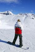Сноубординг горы — Стоковое фото