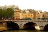 Seina v paříži — Stock fotografie
