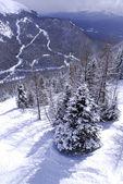 Montagna invernale — Foto Stock