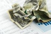 Money finance chart — Stock Photo