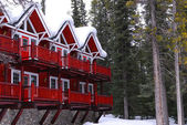 Winter-lodge — Stockfoto