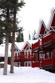 Winter lodge — Stock Photo