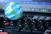 Internet computer bedrijf global — Stockfoto