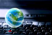 Počítače podnikání na internetu — Stock fotografie