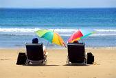 Para plaża — Zdjęcie stockowe