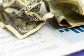 Grafico di finanza soldi — Foto Stock