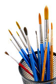 Paintbrushes holder — Stock Photo