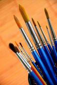 Paintbrushes holder — Stock Photo