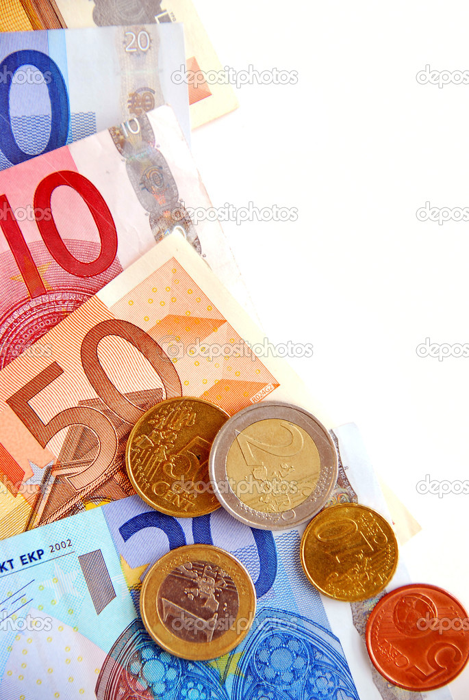 Currency of European union  bills and coins  Stock Photo #4949302