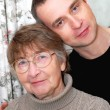 Foto Stock: Mother and son