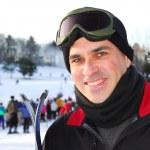 Man ski — Stock Photo
