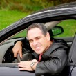 Royalty-Free Stock Photo: Man in car
