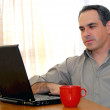 Man with laptop — Stock Photo