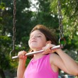 Stock Photo: Girl on playground