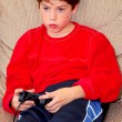 Boy video game — Stock Photo