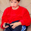 Stock Photo: Boy video game