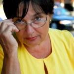 Mature woman glasses — Stock Photo #4953947