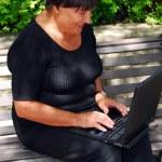 Mature woman computer — Stock Photo #4953952