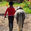 Girl and pony — Stock Photo #4954048