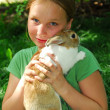 Gril with bunny — Stock Photo #4954138