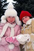 Dos chicas — Foto de Stock