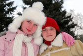 Två flickor — Stockfoto