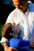 Filho de pai feliz — Fotografia Stock