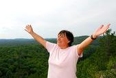 Carefree woman — Stock Photo