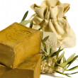 Stock Photo: Two laurel soaps , isolated