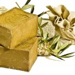 Two laurel soaps , isolated - Stock Photo