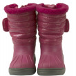 图库照片: Waterproof pink snow boots, isolated