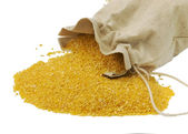 Maize flour in the bag - gluten free — Stock Photo