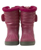 Waterproof pink snow boots, isolated — Photo