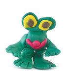 Plasticine figure like a frog — Stock Photo