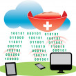 Stock Vector: Cloud Antivirus