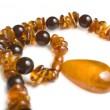Amber necklace closeup | Isolated — Zdjęcie stockowe