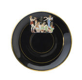 Black greece plate | Isolated — Stock Photo