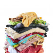 Stock Photo: Huge pile of bed-clothes #3 | Isolated
