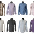 Male shirt collection #1 | Isolated — Stock Photo