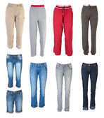Female pants collection #1 | Isolated — Stock Photo