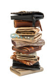 Stack of wallets #2 | Isolated — Stock Photo