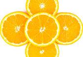 Orange slices close up — Stock Photo