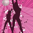 2 girls dancing at disco - Stock Photo