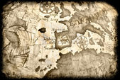 Ancient grunge map — Stock Photo