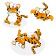 Royalty-Free Stock Vector Image: Cartoon tigers