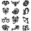 Tribal zodiac - Stock Vector