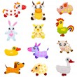Royalty-Free Stock Vectorielle: Domestic  toy animals