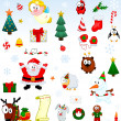Stock Vector: Christmas symbols collection