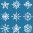 Stock Vector: Decorative snowflakes set