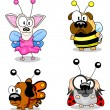 Cartoon dogs in costumes — Imagen vectorial